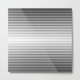 Black lines white lines Metal Print