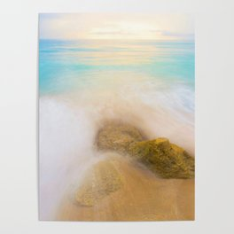 The Beach Long Exposure (Color) Poster