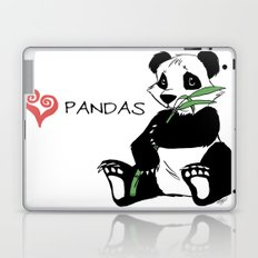 I Love Pandas Design Laptop & iPad Skin