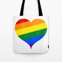 LGBT Rainbow Heart Tote Bag