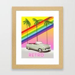 Retro Old Classic Car art Framed Art Print