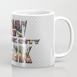 New York - New York City (color type on mono type) Coffee Mug