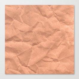 Kraft paper. crumpled paper Canvas Print