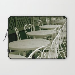 Cafe Table and Chairs - sepia Laptop Sleeve