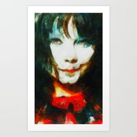 bjork Art Prints featuring BJork by avida