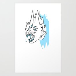 BASS KICK Art Print