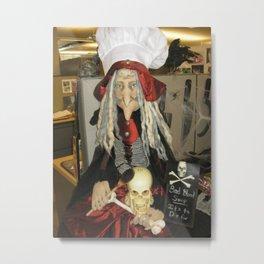 Halloween Witch Prop Metal Print