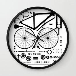 Bike Parts Exploded Wall Clock