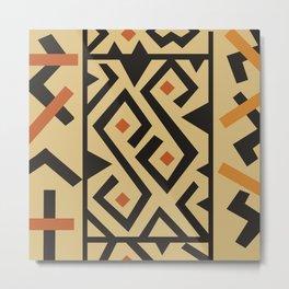 African Tribal Pattern No. 46 Metal Print