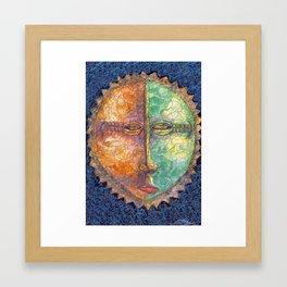 Sun Mask Framed Art Print