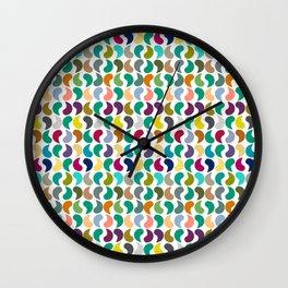 Seamless Colorful Geometric Shapes Pattern II Wall Clock