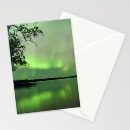 Aurora Borealis Reflection Stationery Cards