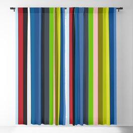 Mizuchi - Colorful Stripes Blackout Curtain