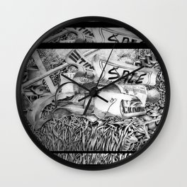 Repetetive Clutter Wall Clock
