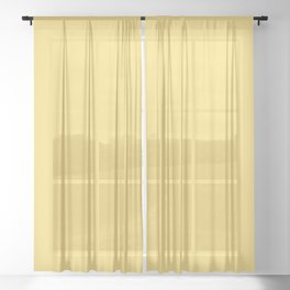 DAISY FLORET pastel solid color Sheer Curtain