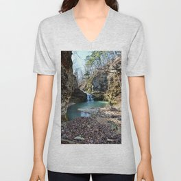 Alone in Secret Hollow with the Caves, Cascades, and Critters, No. 15 of 21 Unisex V-Neck