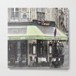Paris - Restaurant Metal Print