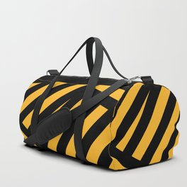 Black and yellow abstract striped Duffle Bag