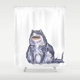 Great White Shark Cat :: Series 1 Shower Curtain