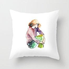 intimacy womens Throw Pillow