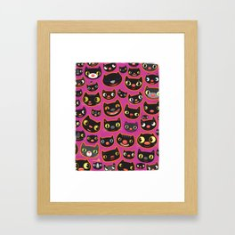 PINK CATS Framed Art Print