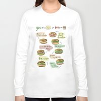 biology Long Sleeve T-shirts featuring Bagel Biology by Faye Finney