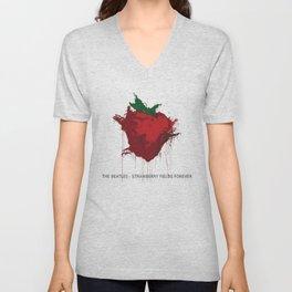 Strawberry Fields Forever  Unisex V-Neck