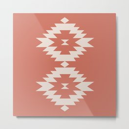 Southwestern Minimalism - Coral Red Metal Print