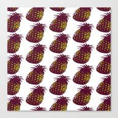 Neon Pineapple Canvas Print