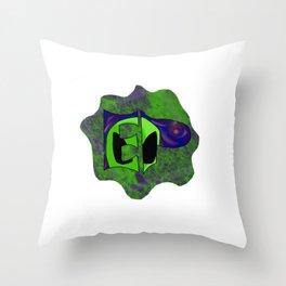 Endless Possibilites Space Rock Logo Throw Pillow