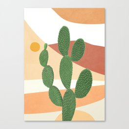 Abstract Cactus II Canvas Print