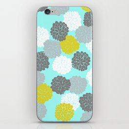 Block Printed Floral iPhone Skin