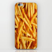 fries iPhone & iPod Skins featuring fries. by Modern Wolf