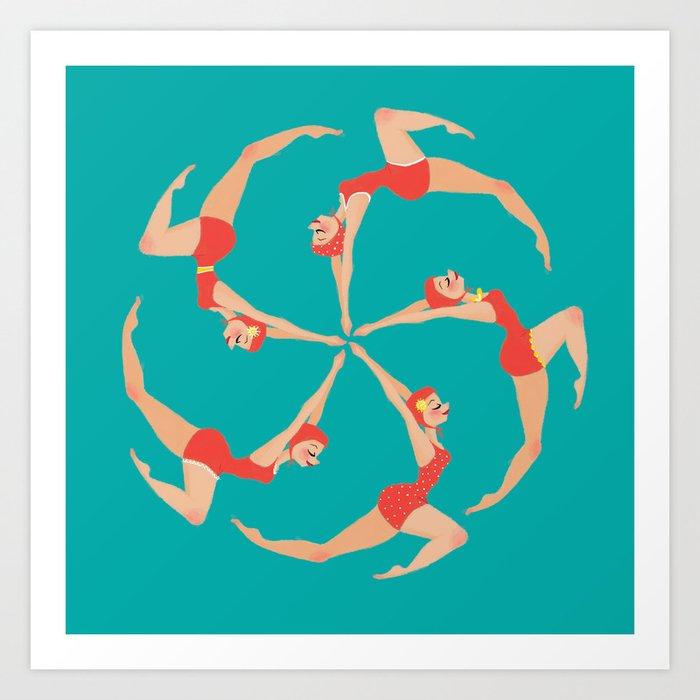 Synchronized Swimmers Kunstdrucke