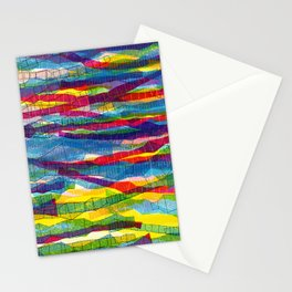 stripes traffic Stationery Cards
