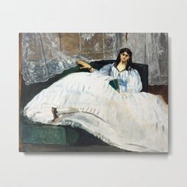 Edouard Manet - Woman with a Fan Metal Print