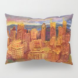 Montreal from Mont Royal during Sunset Pillow Sham