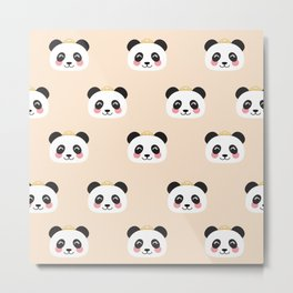 Panda group Metal Print