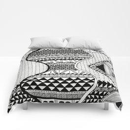 Wavy Geometric Patterns Comforters