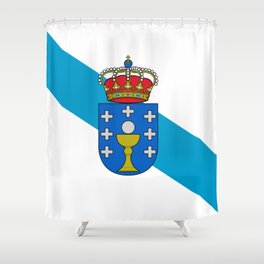 flag of Galicia Shower Curtain