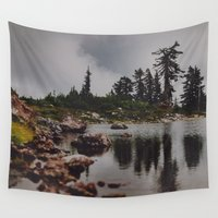 rocky Wall Tapestries featuring Rocky Pond by Leah Flores