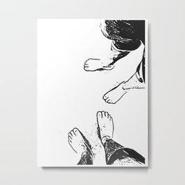 Feet on the sand Metal Print