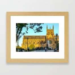 St Mary's Cathedral, Sydney Framed Art Print