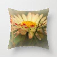 daisy Throw Pillows featuring Daisy by Falko Follert Art-FF77