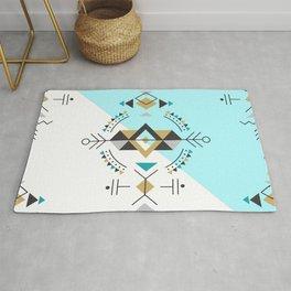Tribal geometric secret geometry design design Rug