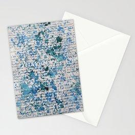 Blue and Emerald Splatter Stationery Cards