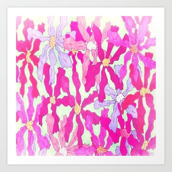Bright and Hazy Floral Art Print