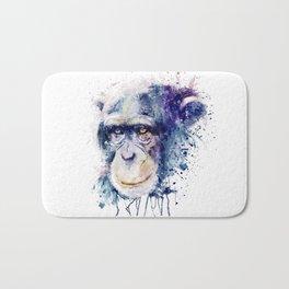 Watercolor Chimpanzee Bath Mat