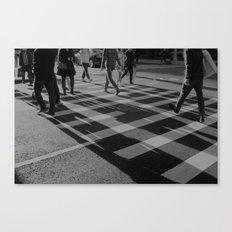 Crosswalk Shadows - Solarized Canvas Print