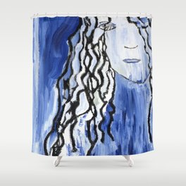 Blue Girl Shower Curtain
